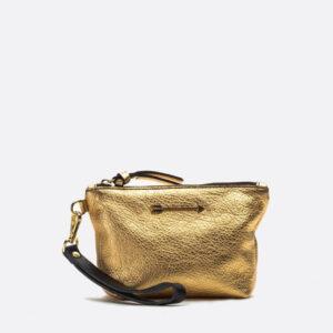 bolso dorado mujer