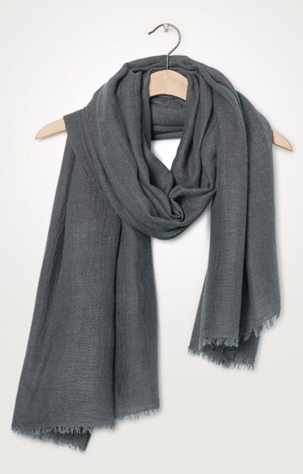 bufanda mujer gris