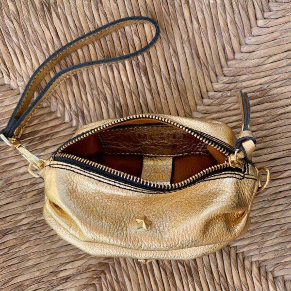 bolso dorado barato