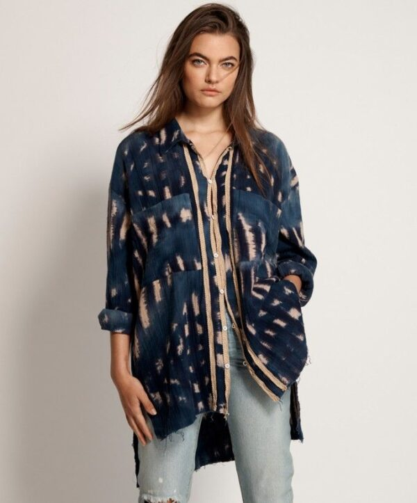 camisa mujer indigo