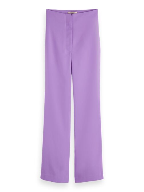 Pantalones de crepé de pernera ancha