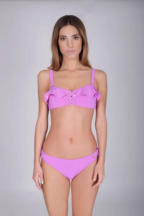bikini lila chica