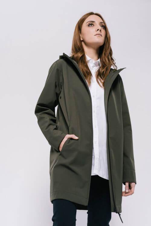 chaqueta dew rainwear kaki